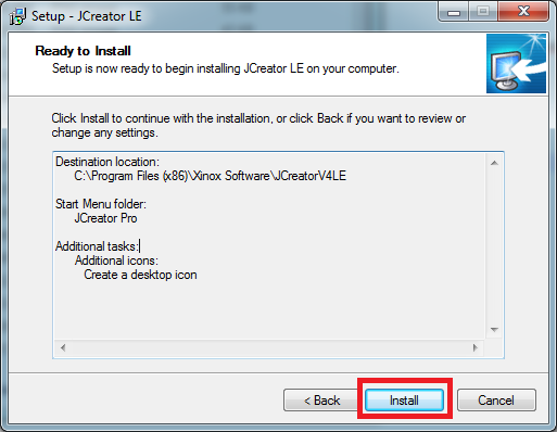 how to install jcreator